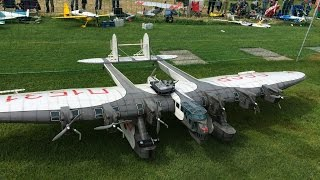 Huge Rc Kalinin K-7 CCCP,6m Wingspan and 7 Motors at Kulmer Air Show 2014 Pilot is Rainer Mattle