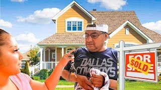 I BOUGHT MY DAD A $1,000,000 HOUSE!!! *EMOTIONAL*