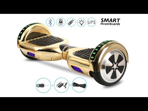 6.5 Inch  Bluetooth Chrome Hoverboard with Led and Remote Unboxing