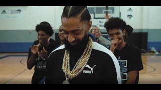 Nipsey Hussle Giving Back To Kids In Las Vegas With G Eazy And Puma Hoops (dir. @LOUIEKNOWS)