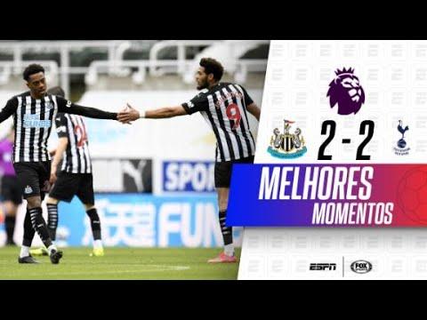GOL BRASILEIRO E DOIS DE KANE! Melhores momentos de Newcastle 2 x 2 Tottenham na Premier League