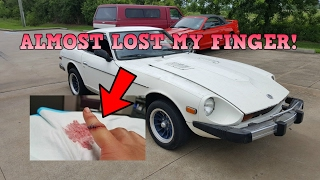 Almost LOST MY FINGER Working On The 280Z - Ep.3