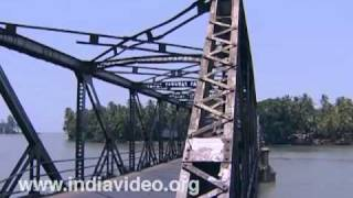 Moidu bridge and Dharmadam island