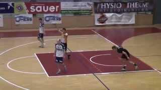 preview picture of video 'Falken St.Pölten - Bärnbach Erste Halbzeit 11.02.2015 HLA Unteres Play Off Handball'