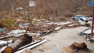 Hurricane Irma damage to Soggy Dollar Jost Van Dyke, BVI