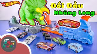 Đối đầu tam giác long bảo vệ thành phố Hot Wheels City ToyStation 421