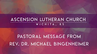 Announcement from Pastor B.