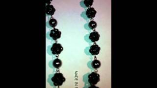 Black Luxury Laces Rosary