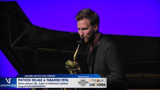 Matthieu Delage plays Deux pièces Op  2 per a violoncel i piano by S  RACHMANINOFF