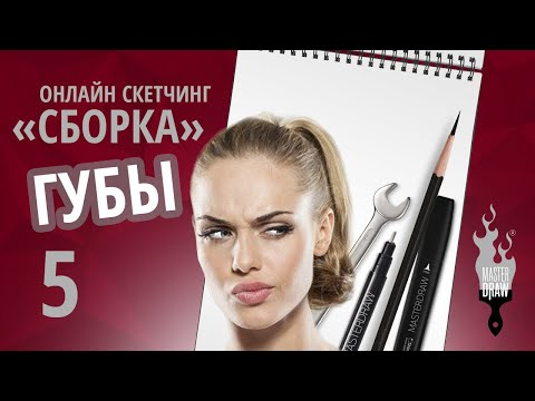 №5 Губы   Онлайн скетчинг «СБОРКА»