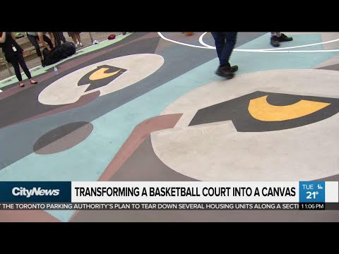 Scarborough basketball court turns into work of art