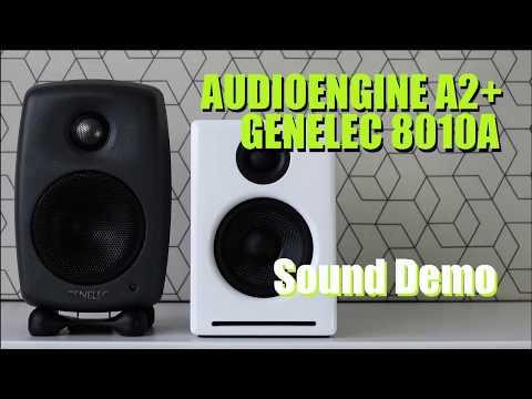Genelec 8010A (Genelec G One) vs Audioengine A2+  ||  Sound Demo w/ Bass Test