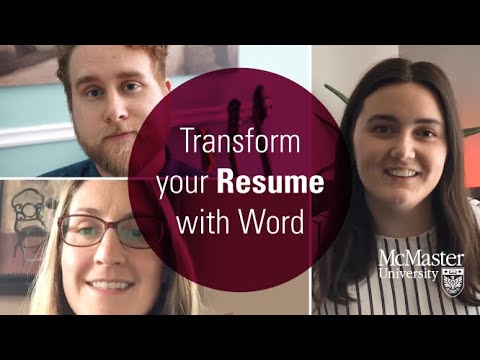 Watch Digital Skills Series: Transform Your Resume With Word (2020) on Youtube.