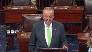 Minority Leader Charles Schumer. Debat Senate Floor. President Trump. June 5, 2017.