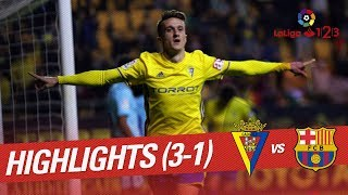 Resumen de Cádiz CF vs FC Barcelona B (3-1)