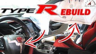 2017 Honda Civic Type R Wrecked Rebuild Part 2