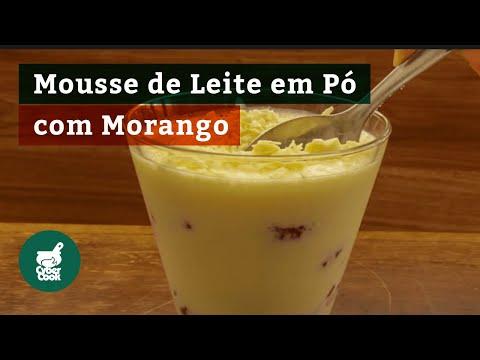 Mousse de Leite Ninho com Morango