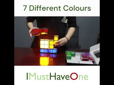 Novelty Tetris Stackable Colourful Night Light