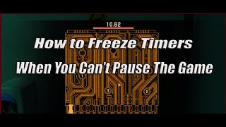 Alpha Protocol: Freeze Game Timers When You Cant Pause The Game Cheat