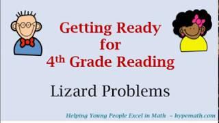 3rd Grade Reading Comprehension (Lizard Problems)