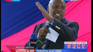 Weekend at One: Gideon Moi on peaceful elections