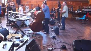 Myrrh rehearsal with orchestra and The Church Band
