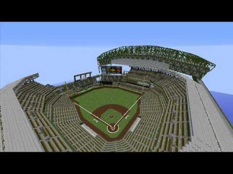 Baseball Stadium Safeco Field Minecraft Project