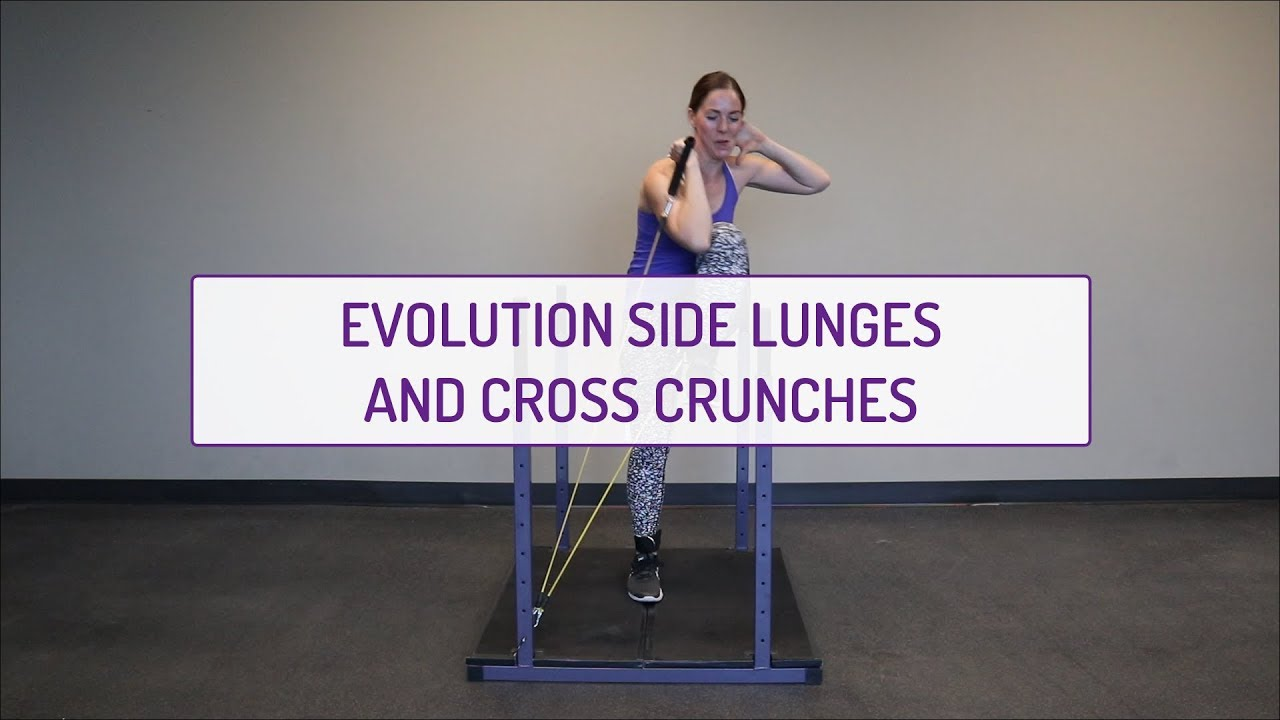 Evolution Side Lunges and Cross Crunches