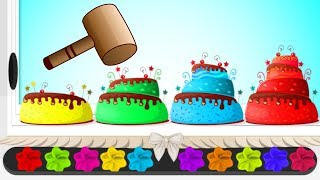 Yummy Cakes getting Iced with different flavored creams | HooplaKidz