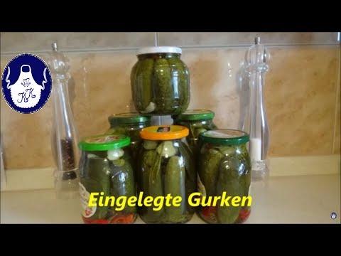 Eingelegte Gurken für Winter // Pickled cucumber