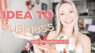 HOW TO BRING YOUR ONLINE BUSINESS IDEA TO LIFE   Sole Proprietor, LLC & Profitable business