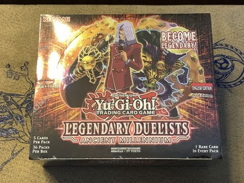 Yu-Gi-Oh! Legendary Duelist Ancient Millennium Booster Box Opening – Good Box!