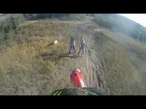 Dirt Bike Lands on Chick (VID)