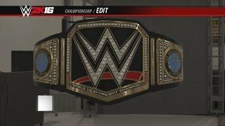 AJ Styles WWE World Championship Side Plates WWE 2K16 Creations Custom Championship