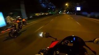 На мотоцикле Honda Cbr600rr под музыку.