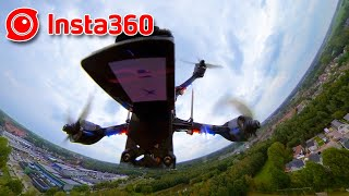 Insta360 ONE R - Demo of several different viewpoints on a FPV Quad - 2020-09-23
