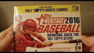 2016 Topps Heritage Baseball Blaster Box Break! Nice!