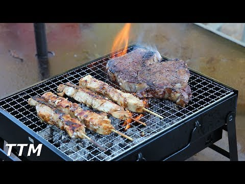 Mini Portable Charcoal Grill Review~Uten Portable BBQ Grill