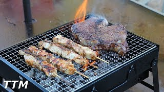 Mini Portable Charcoal Grill Review~Uten Portable BBQ Grill