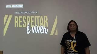 Semana Nacional de Trânsito - Colaboradora Celia Carvalho