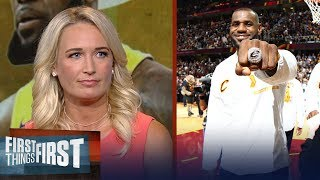 Sarah Kustok on Shaq's comments on LeBron joining the Lakers | NBA | FIRST THINGS FIRST
