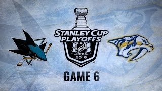 Predators edge Sharks 4-3 in OT, force Game 7 by NHL