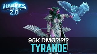 Tyrande Rework - Owl Snipe Build - 95k dmg?!?! - Heroes of the Storm 2.0