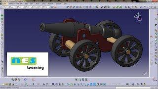 CATIA V5/V6 Tutorial | Cannon Design Full Step-By-Step Amazing...!