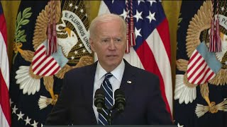 Joe Biden stumbles through his first real and full press conf