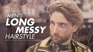 Mens Long Hair For Summer | Curly Messy Hairstyle 2019