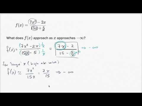 End behavior of rational functions (video) | Khan Academy