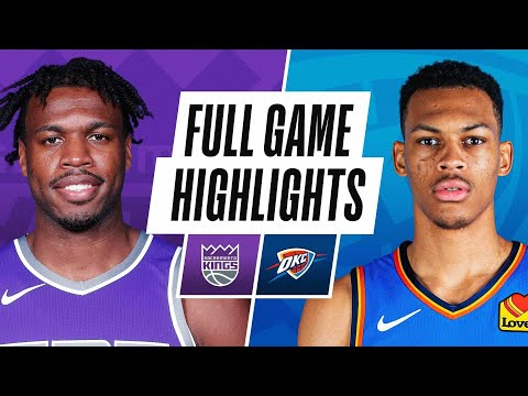 Oklahoma City Thunder vs Sacramento Kings</a> 2021-05-05