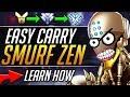 Smurf Zenyatta How to Climb Ranked FAST Pro Zenyatta Tips Gameplay Guide Overwatch Guide