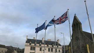 30 Jan - Scottish Parliament votes for IndyRef2 and to keep EU Flag flying.